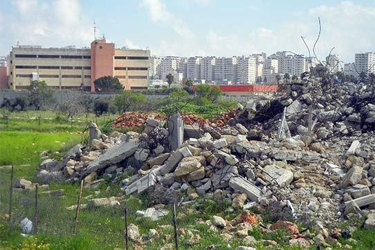 Bedrohung und Einschüchterung: Durch das Militär 2016 zerstörtes Wohnhaus im besetzten Westjordanland, Foto: IPPNW