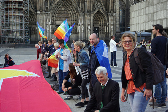 """Aktionskonferenz """"Zivile Lösungen für Syrien"""", 13.05.2017 in Köln. Foto: Friedenskooperative"""