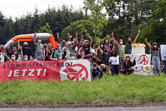 Aktionstage gegen Atomwaffen in Büchel 2020. Foto: Sarah Kuiter/IPPNW
