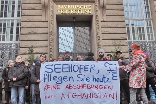 Protest vor der Bayrischen Landesvertretung 22.02.2017, Berlin Foto: IPPNW