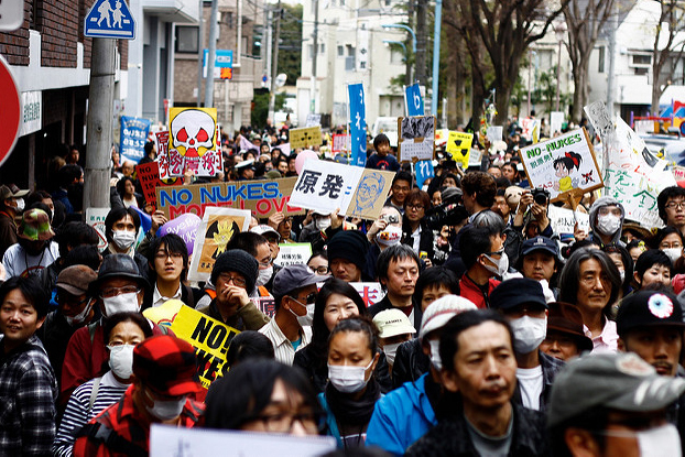Anti-Atom-Proteste in Kouenji, Japan, April 2011. Foto: Matthias Lambrecht / https://creativecommons.org/licenses/by-nc/2.0/
