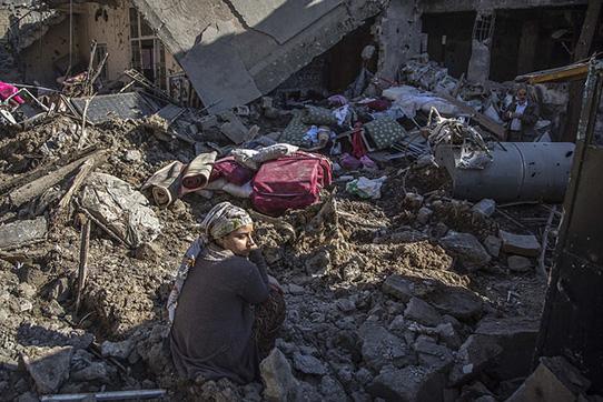 Das zerstörte Cizre, 2. März 2016. Foto: Nedim Yılmaz, https://creativecommons.org/licenses/by-sa/2.0/