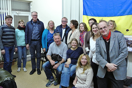 Treffen mit Traumatherapeuten in Kiew