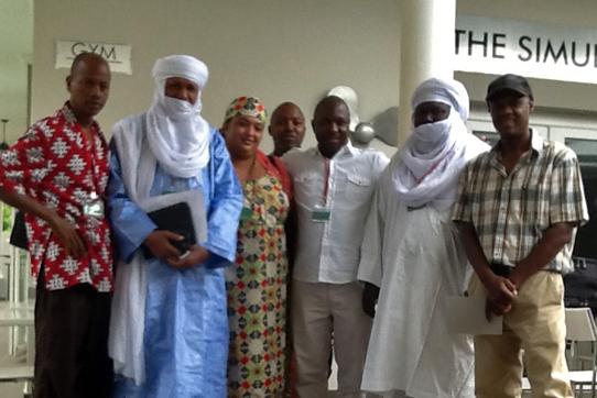 Die Delegation aus Niger in Johannesburg. Foto: IPPNW