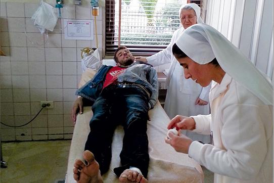 Das Don-Bosco-Krankenhaus in Damaskus. Foto: Missionsprokur der Don Bosco Schwestern, www.fmamission.de/de/607/medikamentenhilfe-fuer-krankenhaus-in-damaskus.html