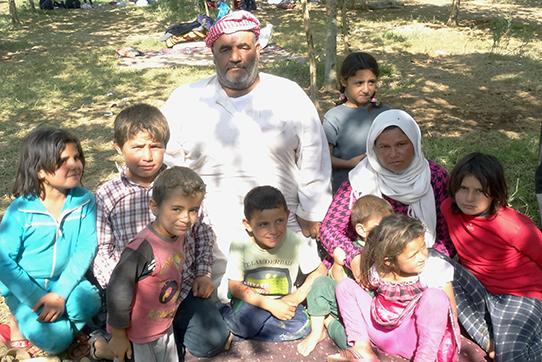 Eine Flüchtlingsfamilie aus Kobane