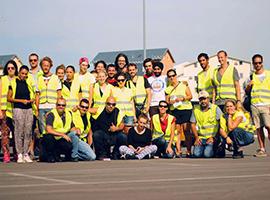 Die HelferInnen an der serbisch-ungarischen Grenze. Foto: Franziska Pilz