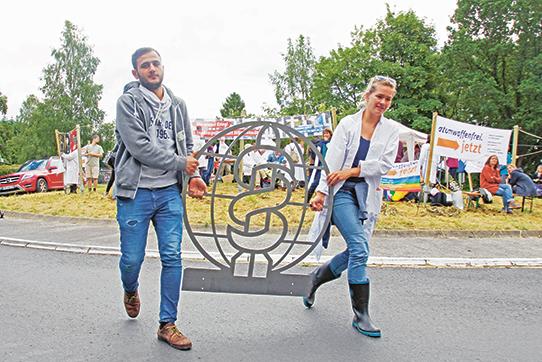 IPPNW-Protestwoche in Büchel 2016. Foto: IPPNW