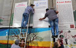 Aktion an der Mauer 2016. Foto: IPPNW