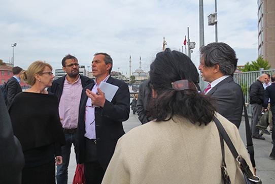 ProzessbeobachterInnen in Istanbul, 8. November 2016. Foto: IPPNW