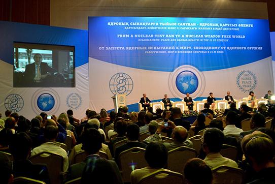 IPPNW-Weltkongress 2014 in Astana, Eröffnungsveranstaltung. Foto: Asrar Ahmad Kichloo