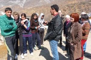 Kurdische Sportschüler im Munzurtal / Dersim/ Tunceli