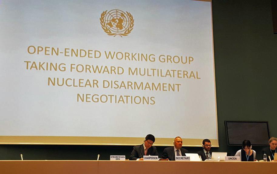Die Open-ended Working Group der UN in Genf: Österreich begrüßt die erste Diskussion über Schlüsselaspekte eines Verbotsvertrags, 13. Mai 2016, Foto: IPPNW