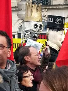 Protest gegen die NATO-Sicherheitskonferenz 2016 in München. Foto: IPPNW