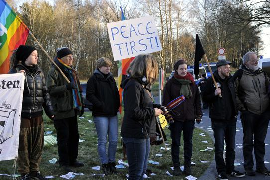Blockade in Buechel 28.03.2017 Foto von Junepa / D.Schoengart