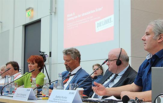"""Am 9. Juni 2016 veranstaltete die Fraktion """"Die Linke"""" ein Fachgespräch zum Thema """"Minsk II: Ausweg aus der ukrainischen Krise?"""". Foto: Fraktion Die Linke"""