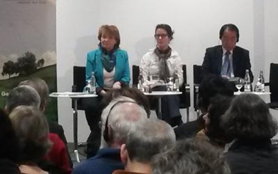 Prof. Irina Gruschwaja, Antje von Brook, Naoto Kan. Foto: Hannah Mertgen