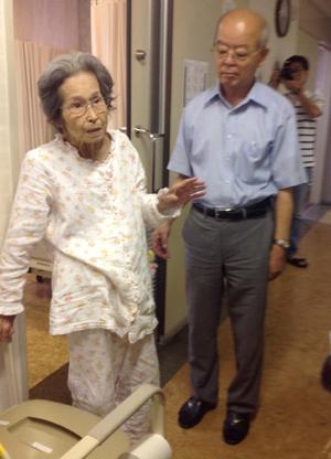 In der Koyo Daiichi Klinik in Hiroshima, die sich seit 1972 um Überlebende der Atombombenabwürfe kümmert