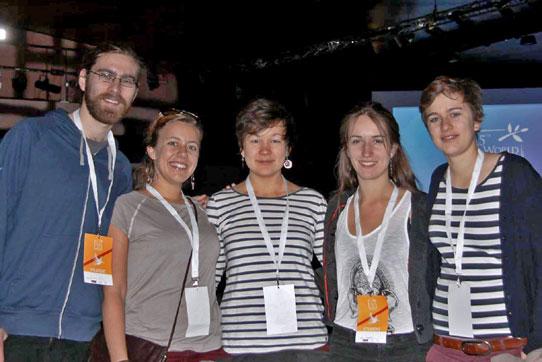 ie Delegation der IPPNW auf dem Nobelpreisträgertreffen in Bacerlona, Foto: Claudia Böhm