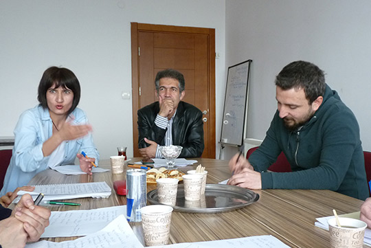 Bei der Gesundheitsgewerkschaft SES in Diyarbakir