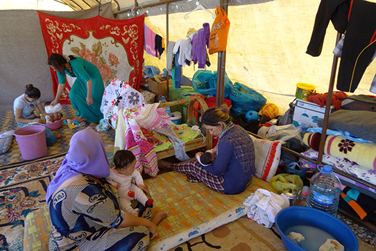 Das Flüchtlingscamp in Silopi, im Dreiländereck Türkei/Syrien/Irak
