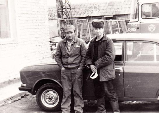 Jacob Stetinger (rechts) war von 6.11. - 20.12.1986 als Kraftfahrer bei der Liquidierung der Havarie in Tschernobyl eingesetzt.