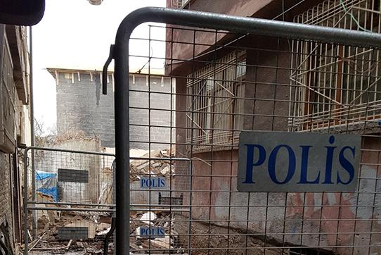 Zerstörte Stadtviertel in Diyarbakir, Foto: IPPNW